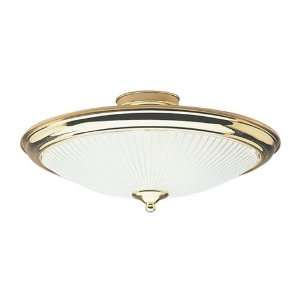 Westinghouse 66267 3 Light Semi Flush Mount Ceiling Fixture Polished