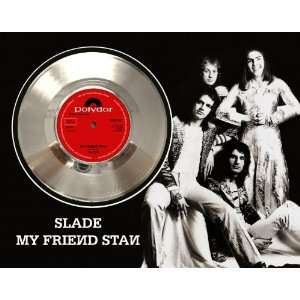 Slade My Friend Stan Framed Silver Record A3: Electronics