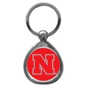 Set of 2 Nebraska Cornhuskers High Polish Chrome Key Tag