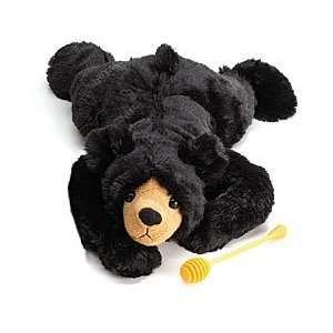 Soft Cuddly Lying Black Stuffed Teddy Bear. Great Gift