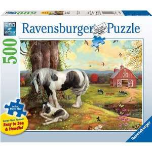Asleep on the Farm Large Format 500 Piece Puzzle Toys