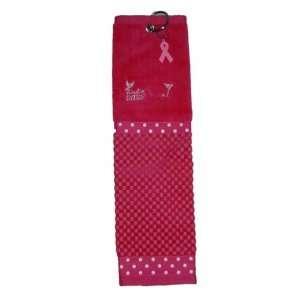 Birdie Babe Pink Ribbon Golf Towel Polka Dot  Sports