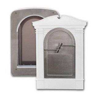 Classy Custom Stainless Steel Magnum Pet Portal Pet Door, Charcoal