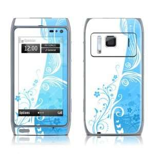 Blue Crush Design Protective Decal Skin Sticker for Nokia N8 Cell
