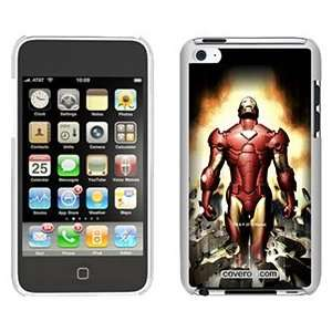 Iron Man Breaking on iPod Touch 4 Gumdrop Air Shell Case