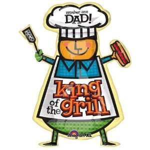 Fathers Day Balloons  Dad King Of The Grill Super Toys