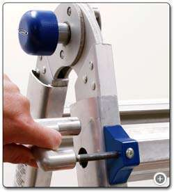 Height adjustments are a snap with the spring loaded J locks. View
