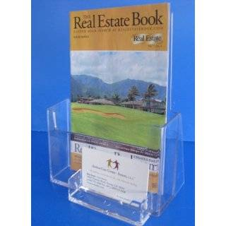 Bi fold 6 Inch Booklet Brochure Holder Wall mount