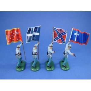 Soldiers Confederate Flag Bearer Set #1 : Toys & Games :