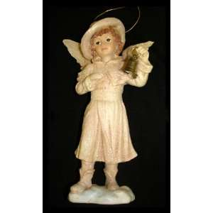Holiday Snow Angel With Bell Christmas Ornament #W7132