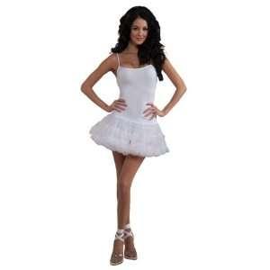 Crinoline Tutu Female Fancy Dress Costume White   One Size