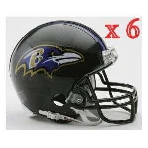 Baltimore Ravens NFL Mini Football Helmet 6 count Sports