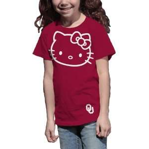 NCAA Oklahoma Sooners Hello Kitty Inverse Girls Crew Tee
