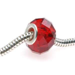 Glass Bead Fits Pandora Siam Ruby Red 14mm (1)