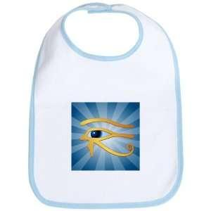 Baby Bib Sky Blue Gold Eye of Horus