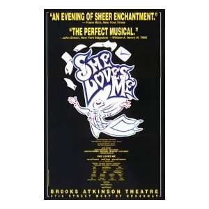 SHE LOVES ME (ORIGINAL BROADWAY THEATRE WINDOW CARD
