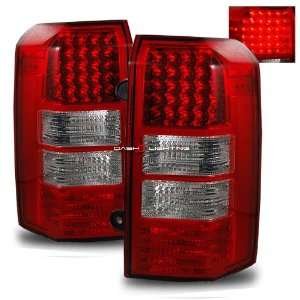 07 10 Jeep Patriot LED Tail Lights   Red Clear Automotive