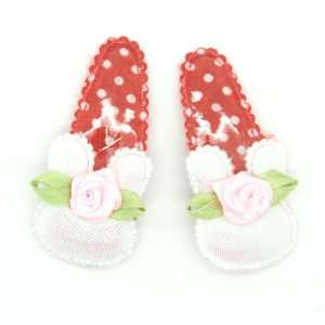 White) Baby/ Toddler /Girl Rabbit / Bunny Shaped with Rose Hair Clip