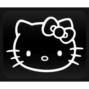 Huge Hello Kitty Face   12 White Sticker Decal   NOTEBOOK