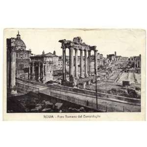 Postcard   View of the Roman Forum from the Campidoglio   Rome Italy