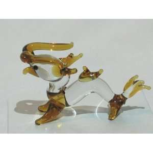 Collectibles Crystal Figurines Mini Golden Dragon