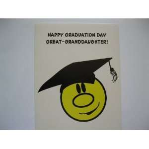Happy Graduation Day Great Granddaughter (G) Everything