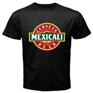 Mexicali Cerveza Beer Logo New Black T shirt Size S
