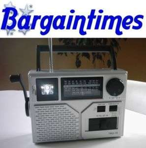 WIND UP DYNAMO AM/FM SHORTWAVE CRANK RADIO TORCH
