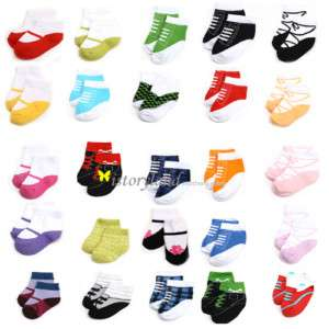 1Pair Baby Infant Toddler Girl Boy shoes Socks 1 12mo