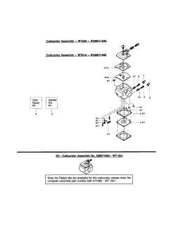 POULAN Chain saw poulan pro Parts  Model 295 TYPE 1,2