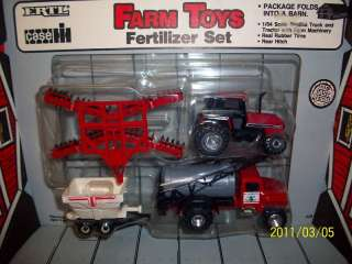 4pc Ertl 1/64 Case IH farm toy tractor fertilizer set