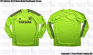 Chelsea FC 10/11 Home Model Long Sleeve Goalkeeper Jersey(XL)Petr Cech