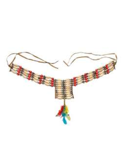 Native American Necklace With Feathers  Halloween Costume Hats, Wigs