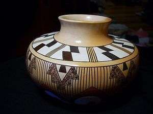 Hopi Indian Emerson Ami Yucca Thread Painted Pottery
