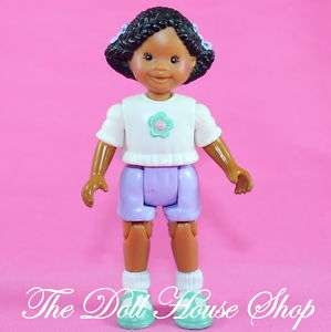 African American Girl Sister AA Fisher Price Loving Family Dollhouse
