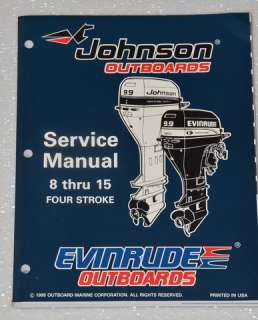 1996 Johnson 8, 9.9 & 15 Four Stroke Model Outboards  Factory Service