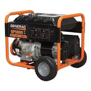 Generac 5938 5000 Watt, GP, Portable Generator, Manual Be the first