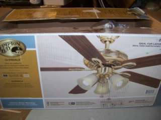 Hampton bay glendale 52 in flemish brass and gold ceiling fan hampton bay glendale 52 in flemish brass ceiling fan new mozeypictures Image collections