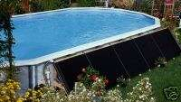 ABOVE GROUND TWO PANEL SWIMMING POOL SOLAR HEATING
