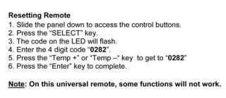 Soleus Mini Split Air Conditioner Remote Control   Model # KFR 09