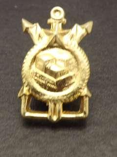 Vintage Gold Tone Russian Soviet Military Bulldozer Hat Pin