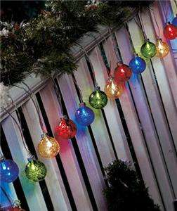 20 PIECE CHRISTMAS HOLIDAY SOLAR GLOBE LIGHT SETS FOR PORCH, SHUBBERY