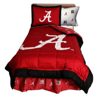 Alabama Crimson Tide NCAA Twin Comforter and Sham Bedding Set