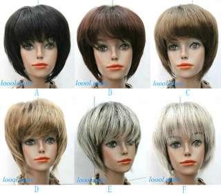 Straight BOB Head Style Wig Women Lady Girl Daily Wear Hair Wig