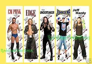 WWE Wrestling BOOKMARKS CM PUNK EDGE JOHN CENA poster