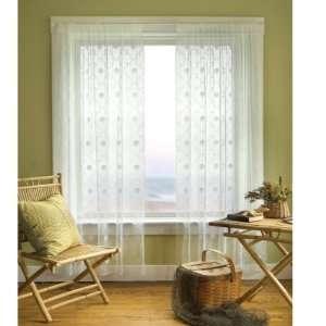Beach Trellis White Lace Curtain Panel   84 Long