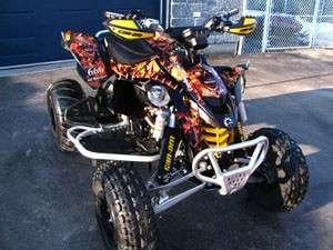 Can Am DS 450 ATV Quad Graphics Kit Decals #9001B Skull