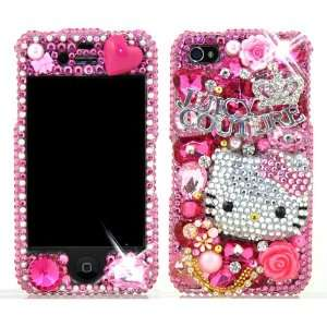 3D Swarovski Pink Hello Kitty Crystal Bling Case Cover for
