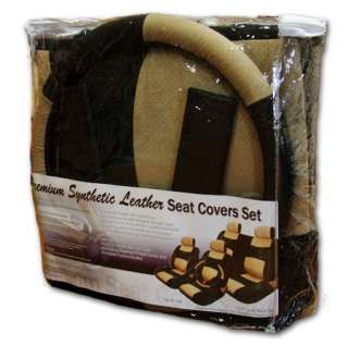 14 PIECES SYNTHETIC LEATHER CAR SEAT COVERS + GIFT SET