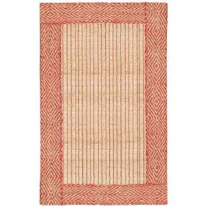 Red Natural Diamond Braided Border Rug: Home & Kitchen